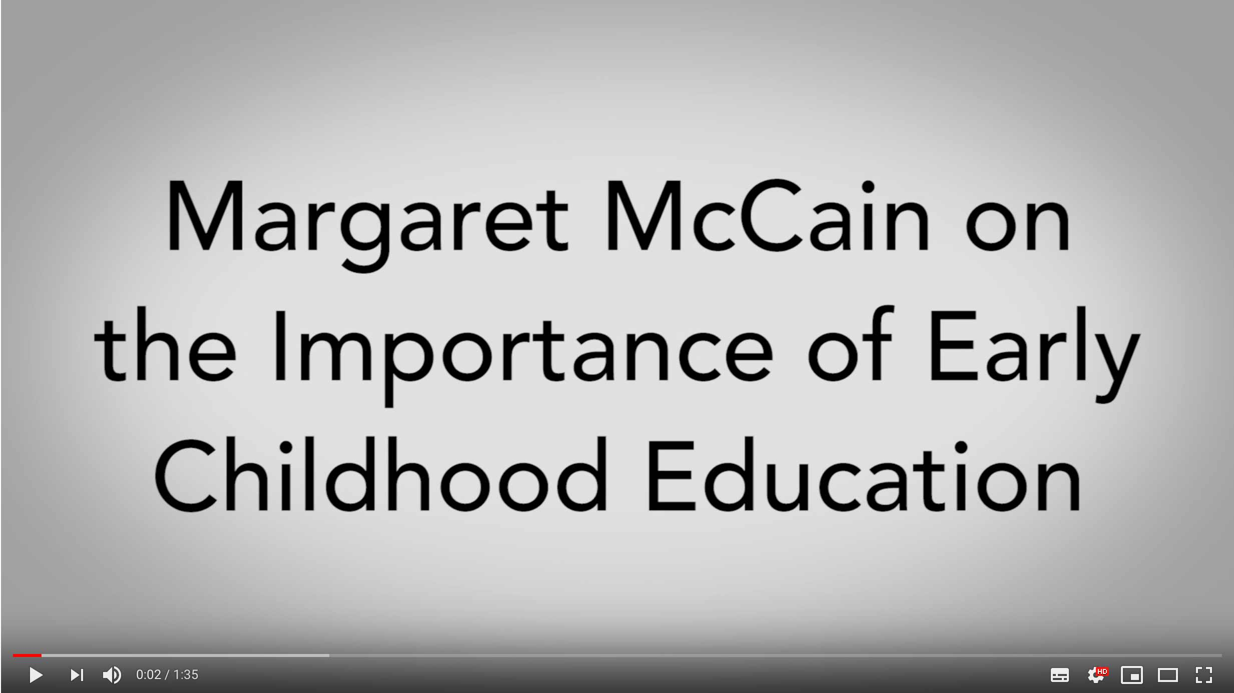 Margaret & Wallace McCain Family Foundation Video